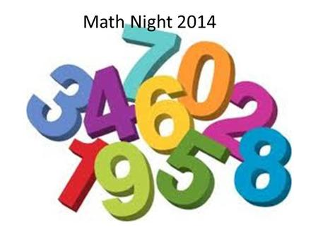 Math Night 2014.