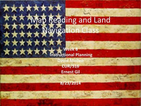 Map Reading and Land Navigation Class