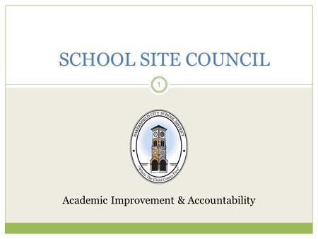 Academic Improvement & Accountability