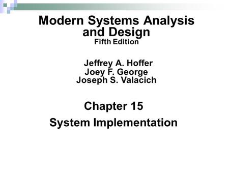 Essentials Of System Analysis And Design Fifth Edition