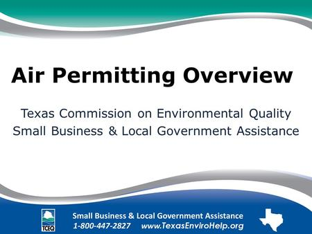 Air Permitting Overview.