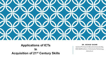 Applications of ICTs In