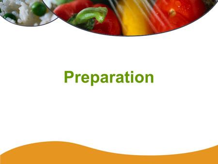 Preparation. 119 Thawing Improperly thawed food can support the growth of bacteria. Safe methods of thawing are: –in the refrigerator (best way) –during.