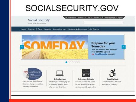 1 SOCIALSECURITY.GOV. 2 Who Gets Benefits from Social Security? 58 million people.