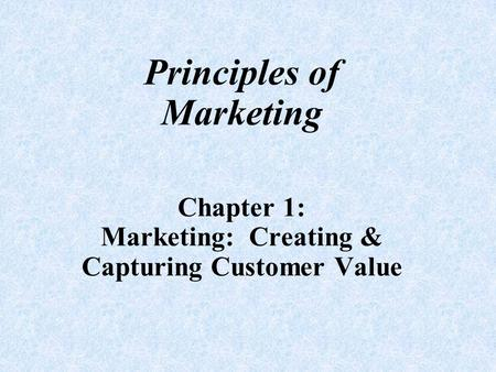 A Change in Marketing & Its Importance