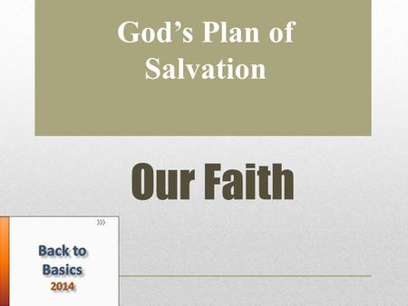 "Our Faith God's Plan of Salvation. What is faith? πίστις, pistis (noun), πιστεύω pisteou (verb) ""firm persuasion, a conviction based upon hearing"" (Vine's)"