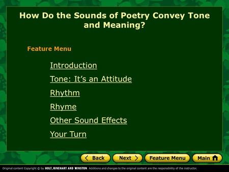How Do the Sounds of Poetry Convey Tone and Meaning?