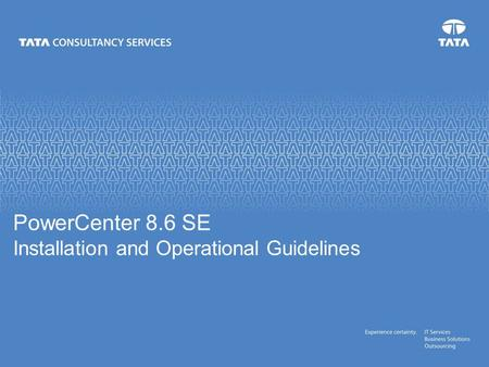PowerCenter 8.6 SE Installation and Operational Guidelines.