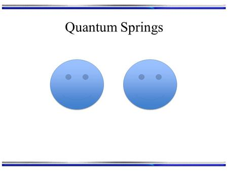 Quantum Springs. Harmonic Oscillator Our next model is the quantum mechanics version of a spring: Serves as a good model of a vibrating (diatomic) molecule.