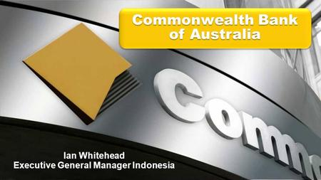 Ian Whitehead Executive General Manager Indonesia