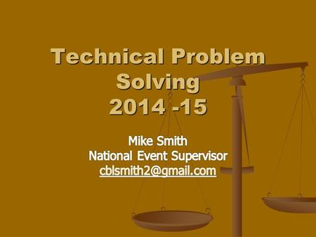 technical problem solving scioly