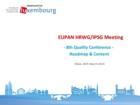 EUPAN HRWG/IPSG Meeting