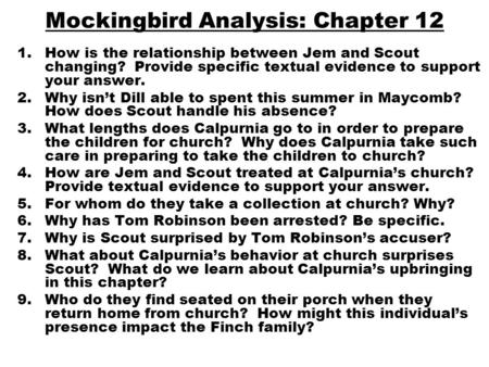 an analysis of families in to kill a mockingbird To kill a mockingbird: jem a novel in which a character grows is 'to kill a mockingbird', by harper lee this novel is about the story of a southern american family, living in a small county in the 1930's, from the perspective of.