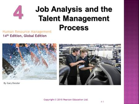 4 Job Analysis and the Talent Management Process