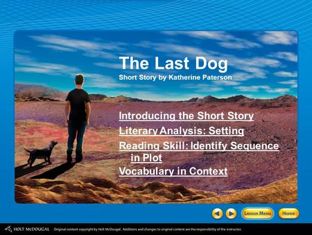 The Last Dog Introducing the Short Story Literary Analysis: Setting