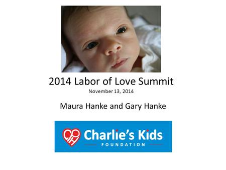 Maura Hanke and Gary Hanke 2014 Labor of Love Summit November 13, 2014.