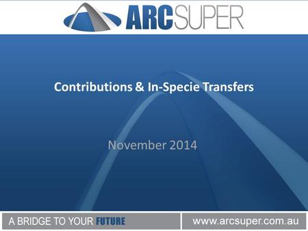 November 2014 Contributions & In-Specie Transfers.
