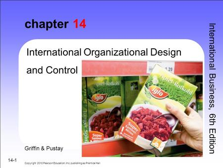 chapter 14 International Organizational Design and Control