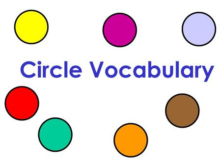 Circle Vocabulary. Circle – set of all points _________ from a given point called the _____ of the circle. C Symbol: equidistant center C.