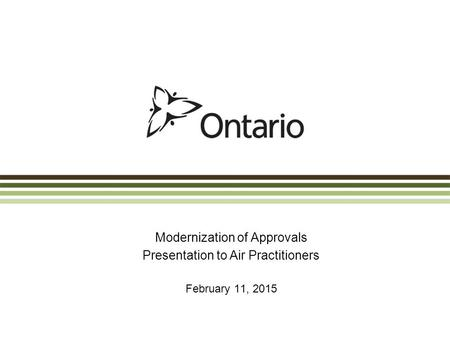 Modernization of Approvals Presentation to Air Practitioners