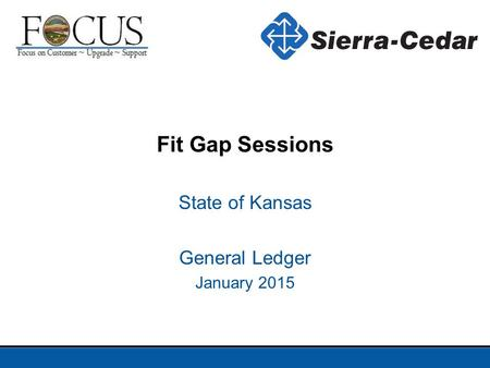 State of Kansas General Ledger January 2015