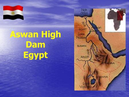 Aswan High Dam Egypt.