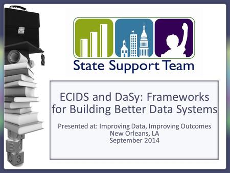 ECIDS and DaSy: Frameworks for Building Better Data Systems Presented at: Improving Data, Improving Outcomes New Orleans, LA September 2014.