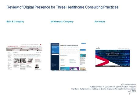 Why Healthcare Consulting? Why These Three?