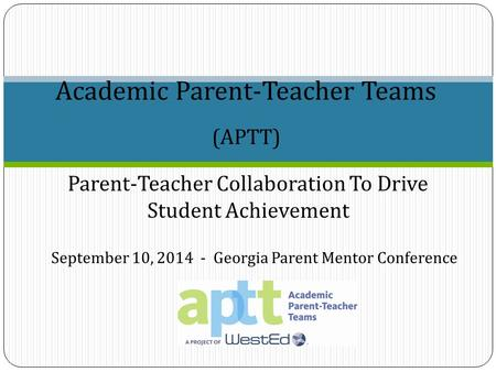 (APTT) Academic Parent-Teacher Teams