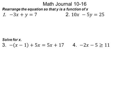 Math Journal −3