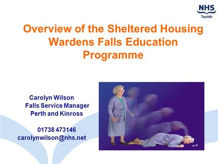 Overview of the Sheltered Housing Wardens Falls Education Programme