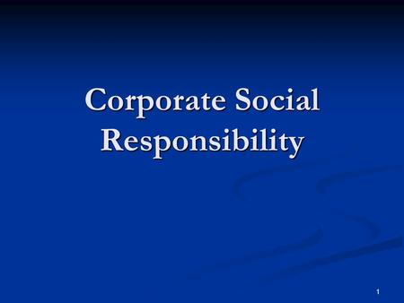 1 Corporate Social Responsibility. 2 Concept Business decision making linked with: Ethical values Ethical values Compliance with the law Compliance with.