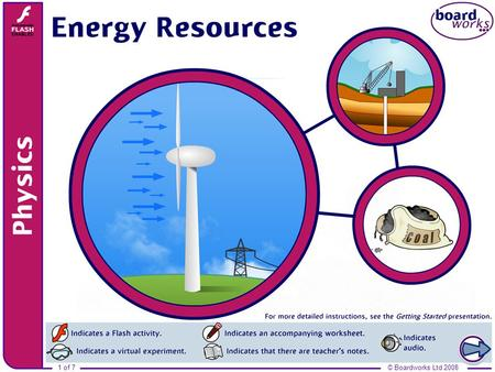© Boardworks Ltd 20081 of 7. 2 of 7© Boardworks Ltd 2008 What are renewable energy sources? Renewable energy resources will not run out because they can.