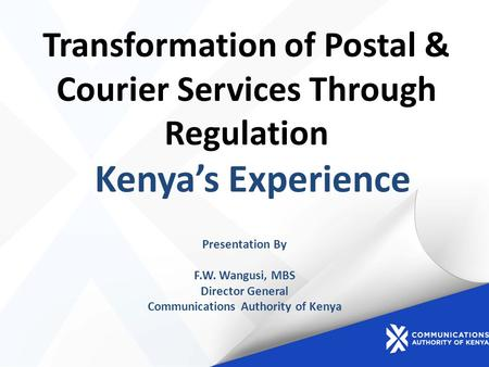 Transformation of Postal & Courier Services Through Regulation