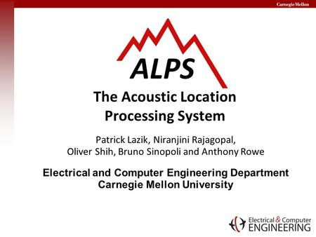 ALPS The Acoustic Location Processing System