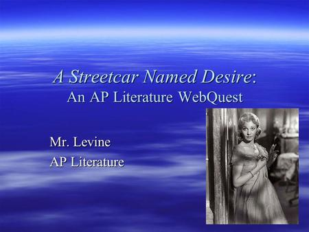 a literary analysis of the symbolism in a streetcar named desire A streetcar named desire: theme analysis, free study guides and book notes including comprehensive chapter analysis, complete summary analysis, author biography information, character profiles, theme analysis, metaphor analysis, and top ten quotes on classic literature.