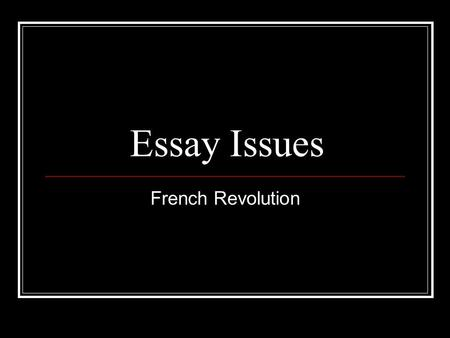 French revolution frq