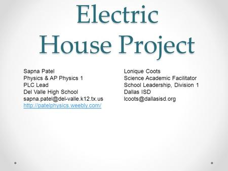 Electric House Project