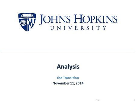 Analysis the Transition November 11, 2014 Final1.