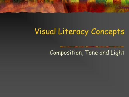 Visual Literacy Concepts