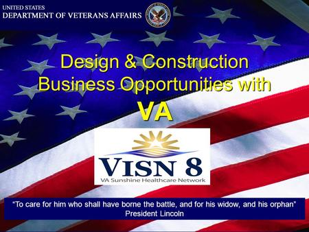 Design & Construction Business Opportunities with VA