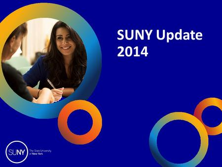SUNY Update 2014. 2014 SUNY College Fairs OpInform 2014 Today's Program Imagine Their World Bigger Degrees with High Employment Options Degrees that Speed.