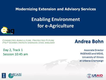 Enabling Environment for e-Agriculture