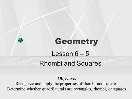 geometry rationale