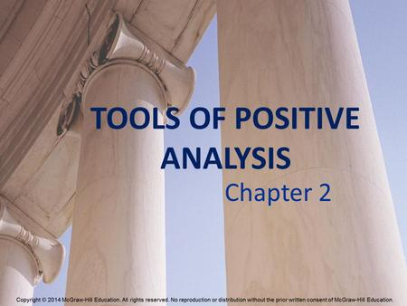 TOOLS OF POSITIVE ANALYSIS