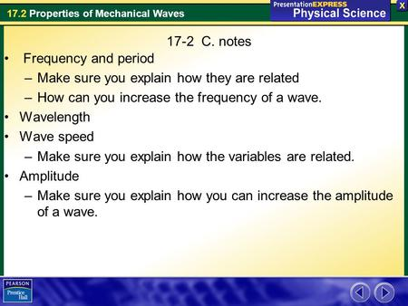 17-2  C. notes Frequency and period