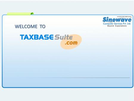 WELCOME TO. Click on Products Click Online Product=> Tax Professional.
