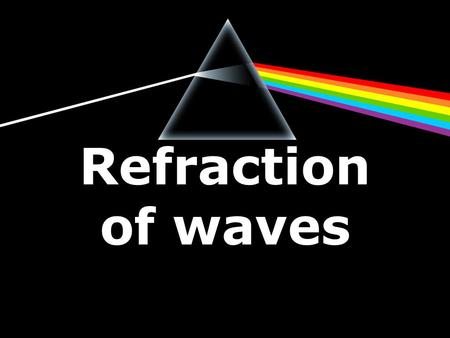 Refraction of waves.