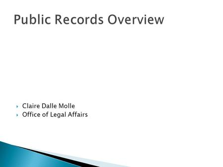 Public Records Overview