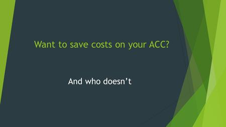 Want to save costs on your ACC? And who doesn't. Self employed?Want to reduce ACC levies?Cover for illness & injury?